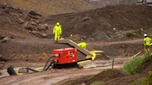 Work on the Aberdeen bypass has been halted for seven days after heavy rain caused muddy water to run off the construction site.