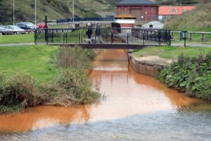 """Orange"" water metal pollution solved.  Good News for Saltburn Gill.  Former Ironstone Mine."