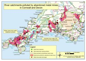 Rivers across Devon and Cornwall are being polluted by abandoned metal mines